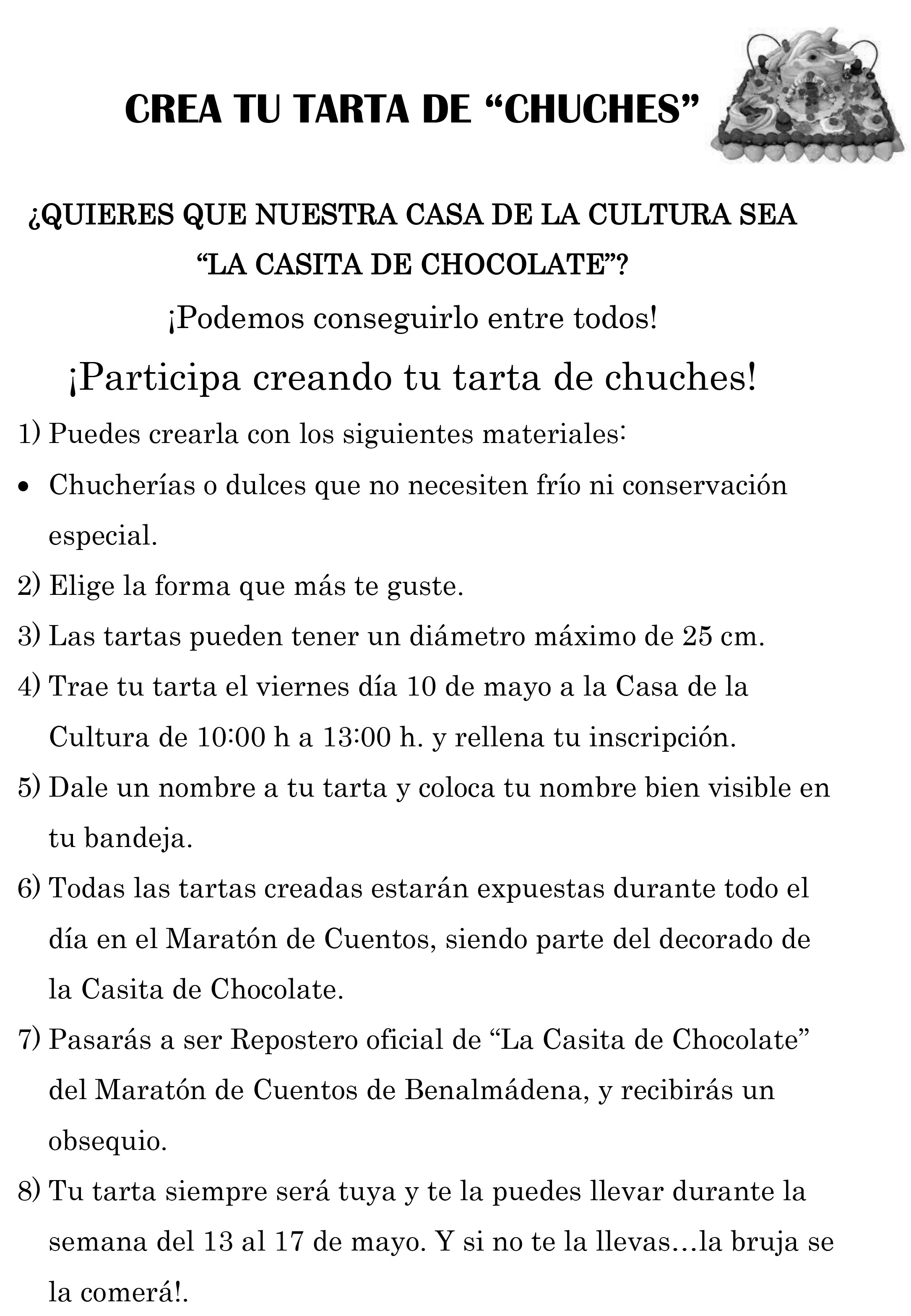 Convocatoria Tarta Chuches