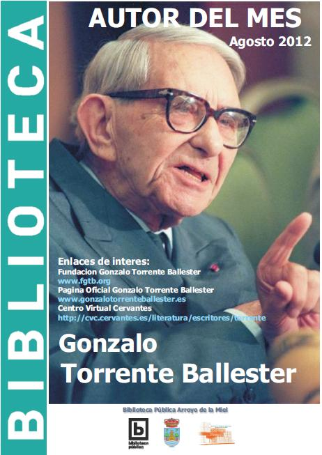AUTOR DEL MES DE AGOSTO: GONZALO TORRENTE BALLESTER