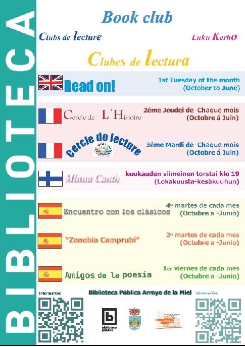 CLUBES DE LECTURA. BIBLIOTECA ARROYO DE LA MIEL