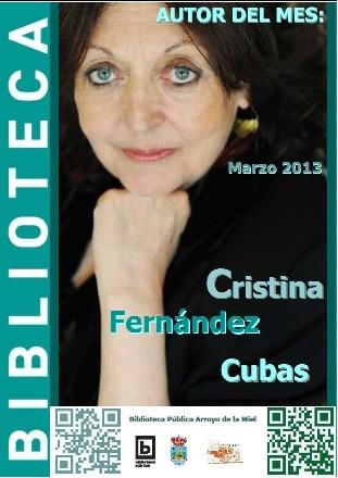 AUTOR DEL MES DE MARZO: CRISTINA FERNÁNDEZ CUBAS