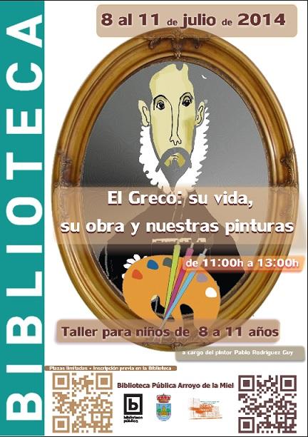 EL GRECO: SU VIDA, SU OBRA Y NUESTRAS PINTURAS. TALLER INFANTIL.