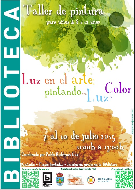'LUZ EN EL ARTE: PINTANDO CON LUZ Y COLOR'. TALLER INFANTIL