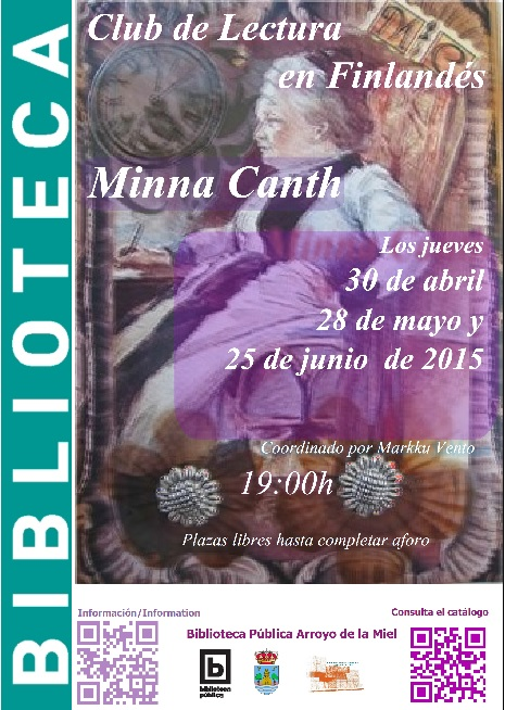MINNA CANTH, CLUB DE LECTURA EN ESPAÑOL