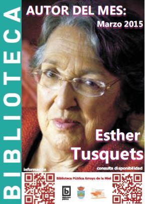 ESTHER TUSQUETS: AUTOR DEL MES DE MARZO