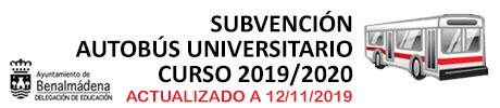 Autobús Universitario 2019/2020