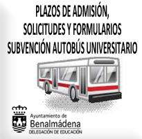Servicio de Transporte Universitario 2018. (PLAZO ALEGACIONES SUBVENCIÓN AUTOBÚS UNIVERSITARIO DEL 19 AL 21 SEPTIEMBRE 2018)