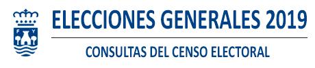 Censo Electoral Cortes Generales 2019