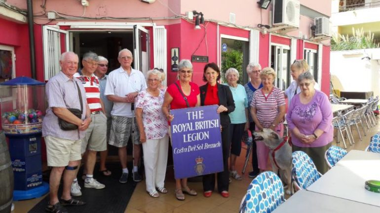 The Councillor for foreign residents, Ana Scherman, visited Royal British Legion and Age Care Association.