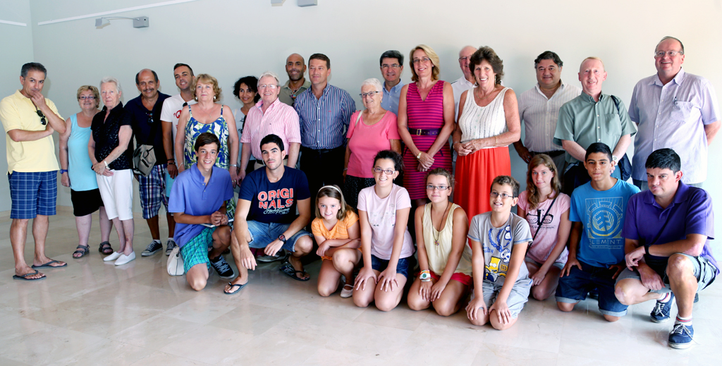 The Mayoress of Benalmadena was present at the closing ceremony of the Summer English Workshops