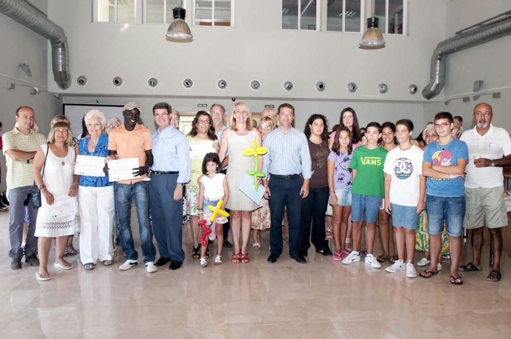 The Mayoress of Benalmadena at the closing ceremony of the Summer Language Workshops