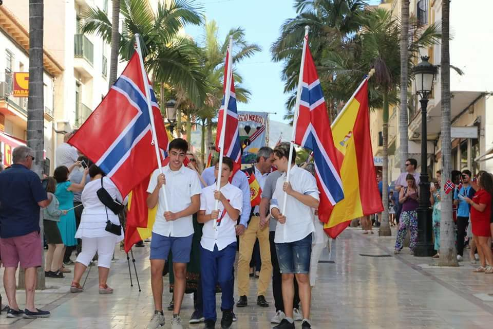 Norwegian National Day celebration in Arroyo de la Miel