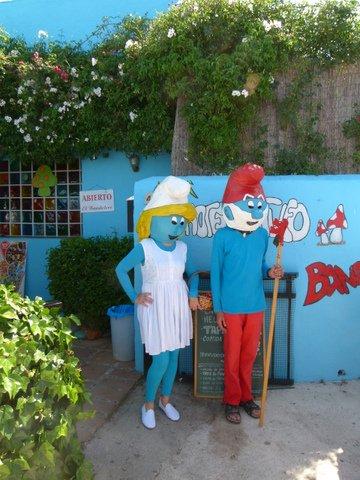 Juzcar the blue village