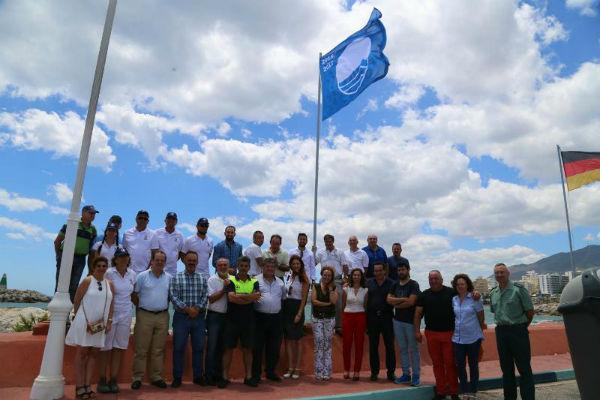 El litoral de Benalmádena recupera cuatro banderas azules para las playas de Torrevigía, Torrebermeja, Fuente de la Salud y Puerto Deportivo
