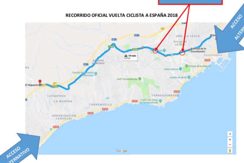 La Vuelta Ciclista a España pasará por Benalmádena el próximo lunes 27 de agosto.