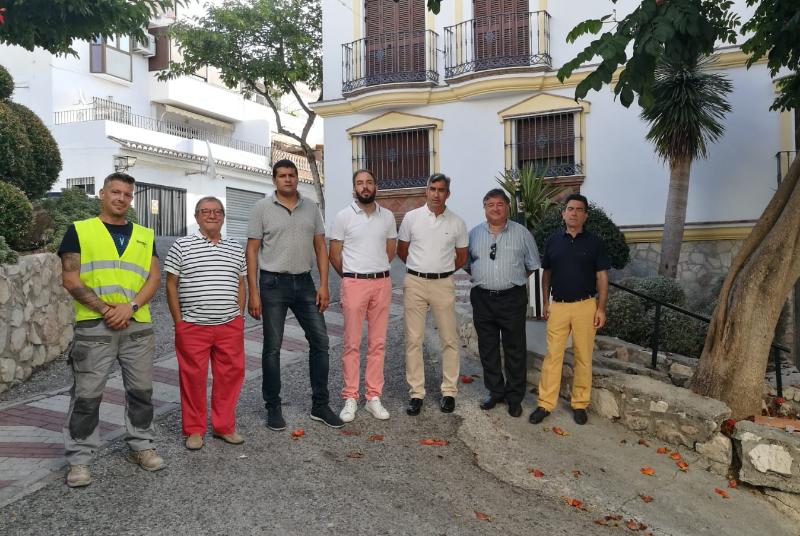 Comienzan las obras de remodelación en Calle Cataluña y Pasaje del Potro en Benalmádena Pueblo.