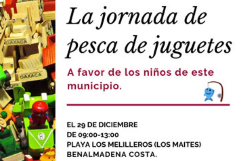 El Club de Pesca de Benalmádena organiza un torneo benéfico de recogida de juguetes el próximo 29 de diciembre.