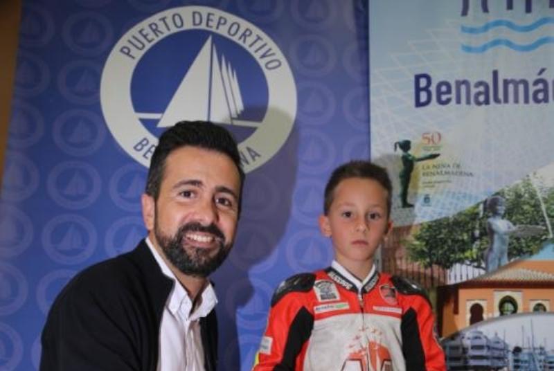 EL PUERTO DEPORTIVO PATROCINARÁ A LA PROMESA LOCAL DEL MOTOCICLISMO, ARES ARAGÓN