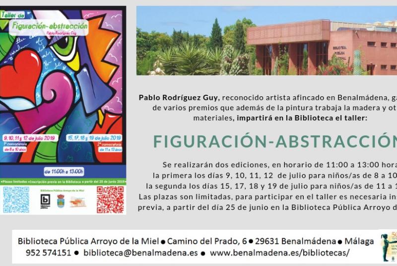 LA BIBLIOTECA DE ARROYO DE LA MIEL ORGANIZA UN TALLER PICTÓRICO SOBRE FIGURACIÓN Y ABSTRACCIÓN