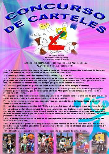 Concurso de carteles de la 24ª Fiesta de la Bicicleta
