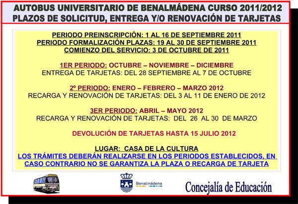 Autobús Universitario de Benalmádena 2011-2012