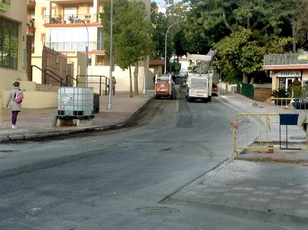 Vías y Obras pone en marcha los trabajos de asfaltado en la avenida de Bonanza