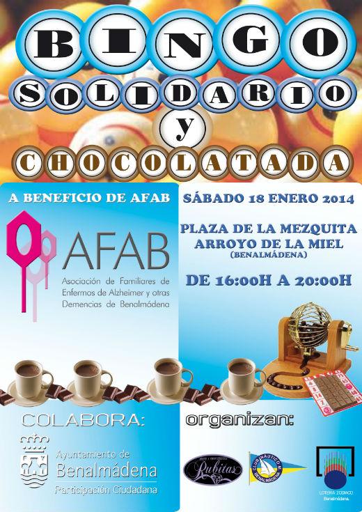 La Plaza de la Mezquita acogerá este sábado un Bingo Solidario a beneficio de Afab