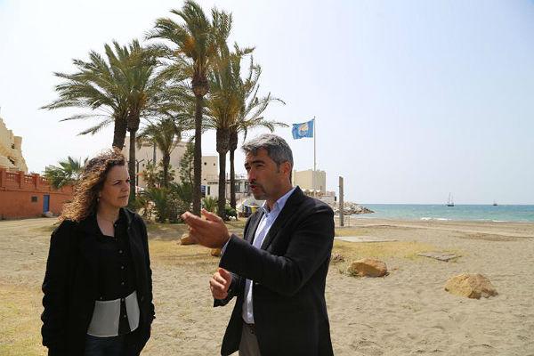 Los daños provocados por el último temporal en las playas de Benalmádena superan los 300.000 euros