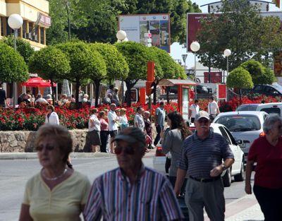 Zona azul cercana a Calle Las Flores