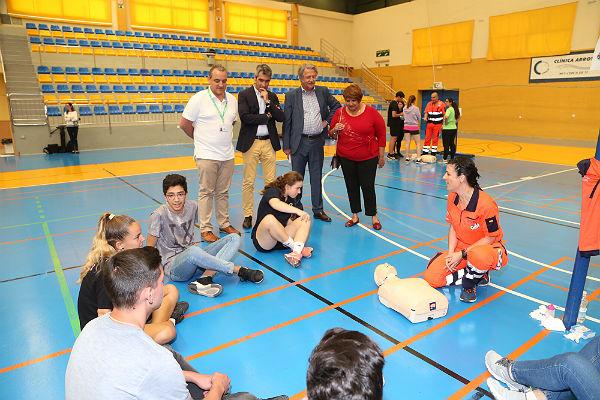 Más de 500 estudiantes participan en el I Cardiomaratón de Benalmádena