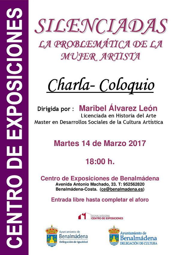 Charla-Coloquio en el Centro de Exposiciones de Benalmádena. 'Silenciadas: La Problemática de la Mujer Artista'