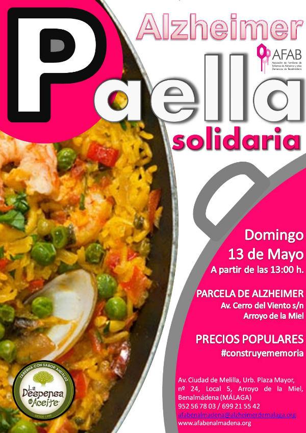 Este domingo, 13 de mayo, paella solidaria en  la parcela del futuro Centro de Alzheimer