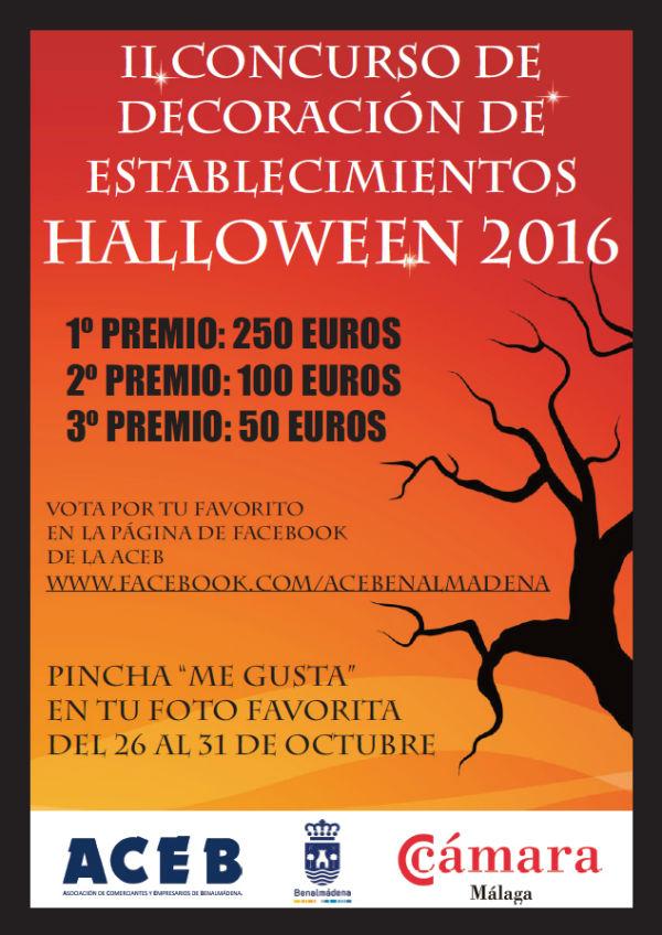 La ACEB convoca el II Concurso de Decoración de Establecimientos Halloween, con 400 euros en premios