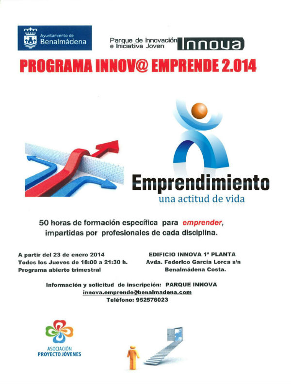 Arranca el programa Innov@ Emprende 2014 con una treintena de participantes