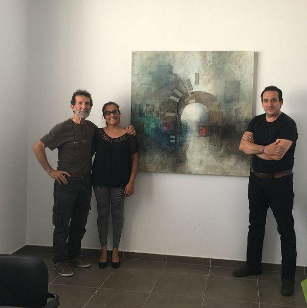 El artista Pablo Rodríguez Guy cede temporalmente una de sus obras a la Concejalía de Vivienda y Rescate Ciudadano