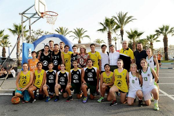El Puerto Deportivo acoge la primera prueba del XXI Circuito Provincial de Baloncesto 3X3