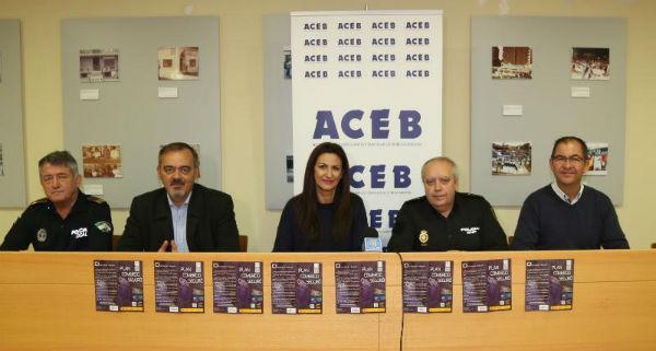 Los concejales Bernardo Jiménez y Javier Marín participan en la presentación de la campaña de comercio ´Comercio Seguro´´