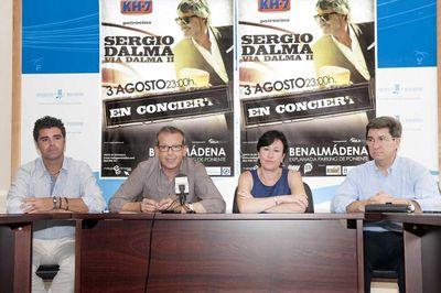 Sergio Dalma Actuará este Viernes en el Puerto Deportivo de Benalmádena.