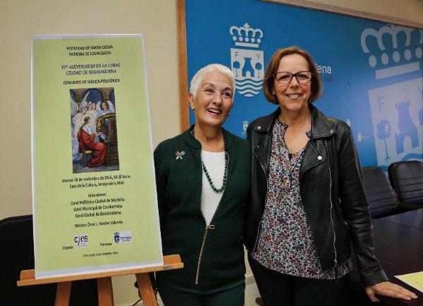 La Coral Ciudad de Benalmádena culmina los actos conmemorativos de su XV Aniversario con un Encuentro Coral por la festividad de Santa Cecilia