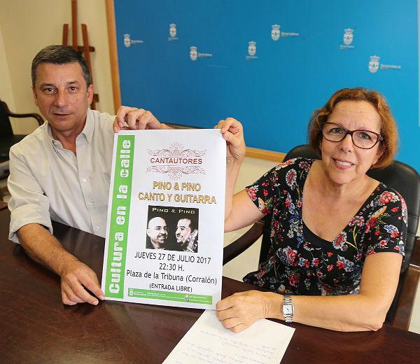 Cultura en la Calle ofrece un concierto de cantautores en la Plaza de la Tribuna el jueves 27 de julio