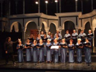 Música coral en el puerto de Benalmádena