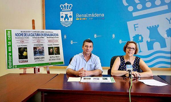 La 'Noche de la Cultura' en Benalmádena, el 28 de julio, marca el ecuador del programa 'Cultura en la Calle'