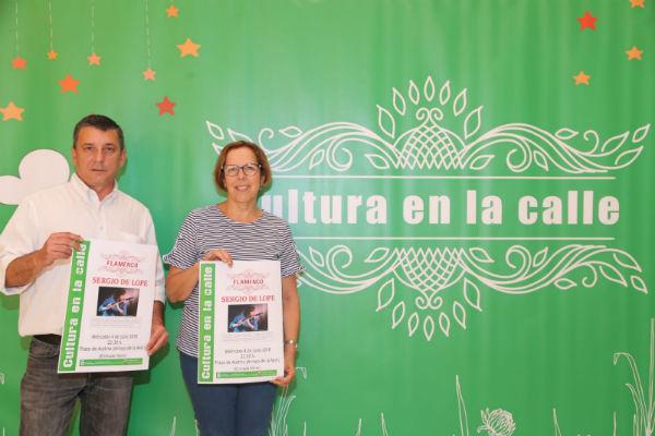 El Flamenco-Fusión de Sergio de Lope inaugurará el programa Cultura en la Calle 2018.