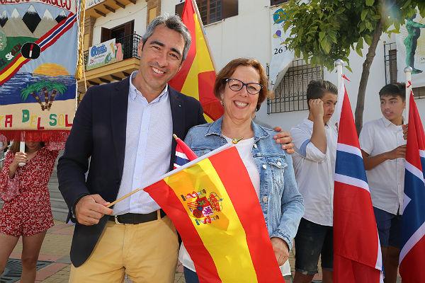 El Alcalde Víctor Navas y la Concejala Elena Galán participan en la celebración del Día de Noruega