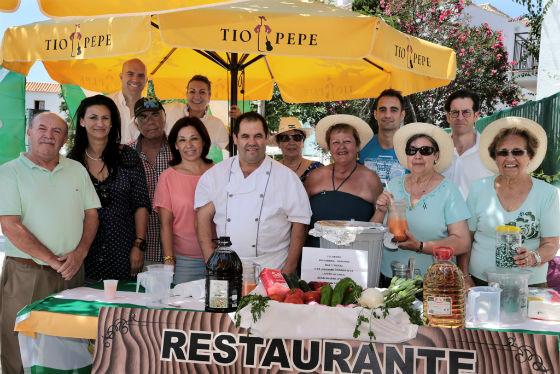 Más de un centenar de personas participan en el Día del Gazpacho Andaluz en el restaurante 'El Parador'