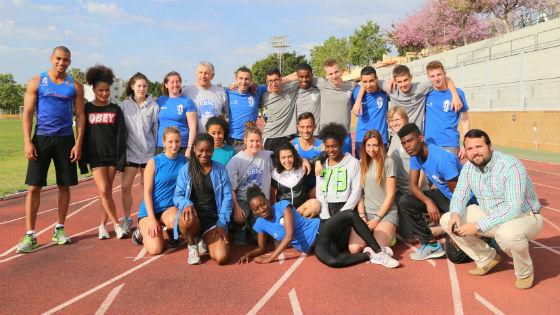 Primera visita de deportistas belgas a Benalmádena