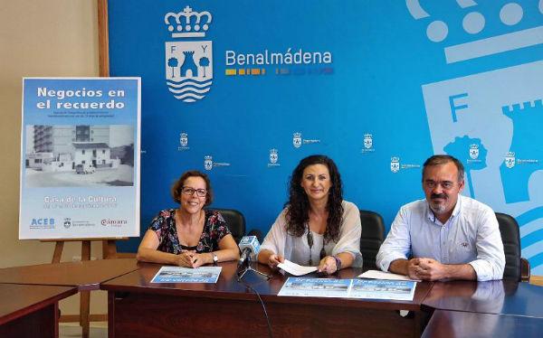El Concejal de Comercio y la Concejala de Cultura presenta una Exposición de Fotografías Antiguas de Comercios Locales organizada por la ACEB