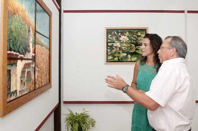 La Casa de la Cultura Acoge la Exposición de Pintura de Antonio Sánchez.