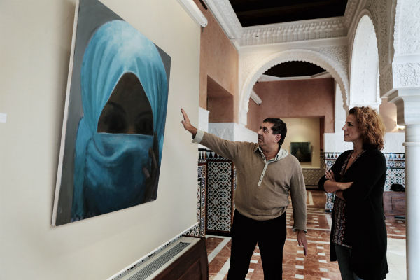 El Castillo El Bil-Bil acoge la exposición de pinturas del artista local Juan Manuel - Rafael Ferrezuela