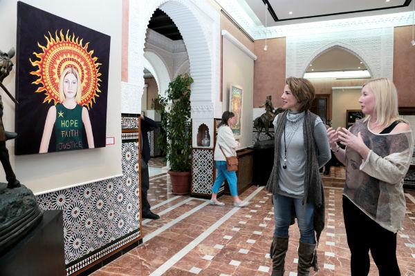 El Castillo del Bil-Bil acoge la muestra de la artista británica afincada en Benalmádena Sian Kirkby