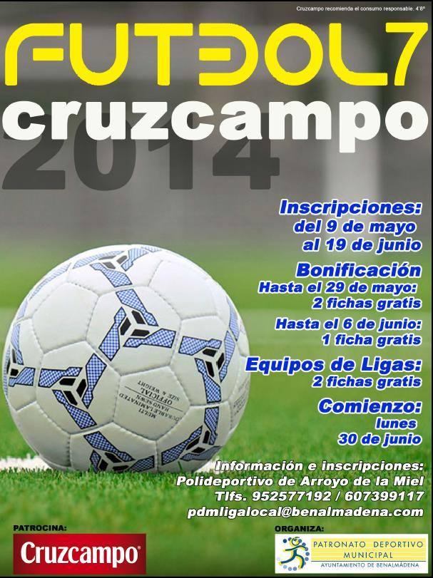 El Patronato Deportivo Municipal organiza el XVI Torneo Cruzcampo de Fútbol 7